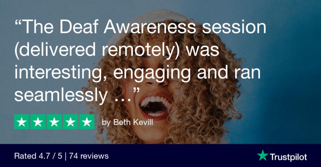 Online deaf awareness training