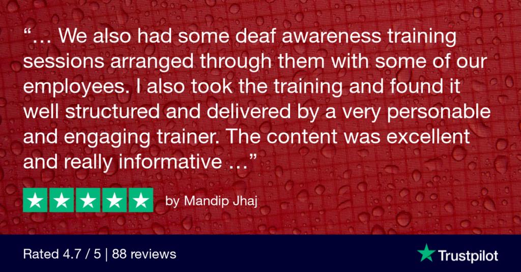Remote deaf awareness training