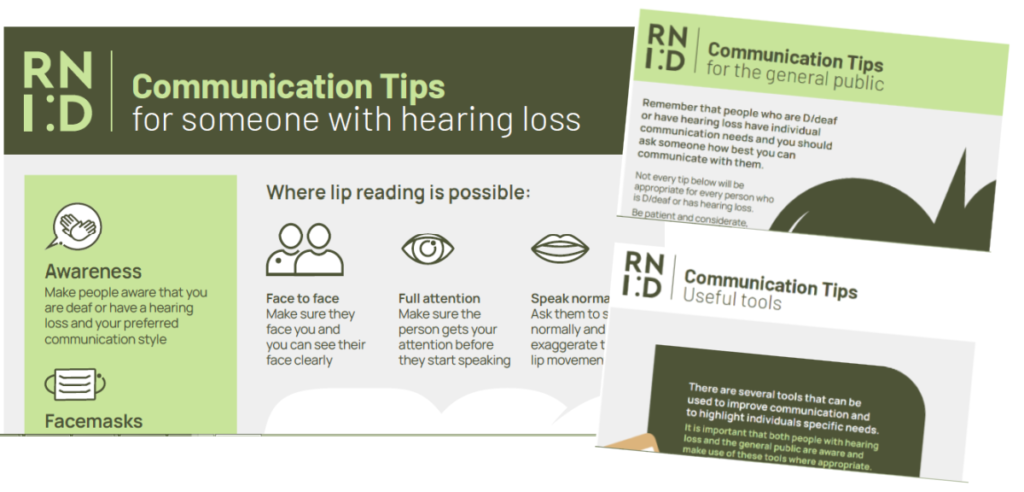 RNID Communication hints and tips